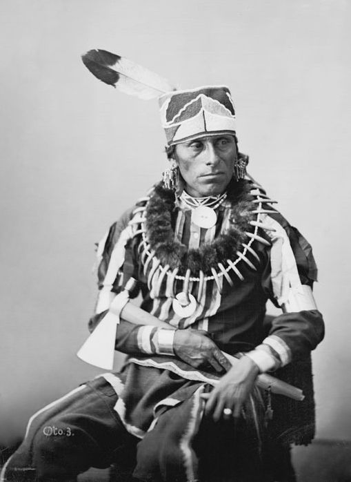 An old photograph of Little Pipe - Otoe 1869.