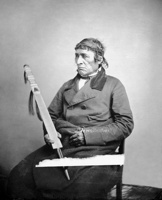 An old photograph of Little Six - Mdewakanton 1858.