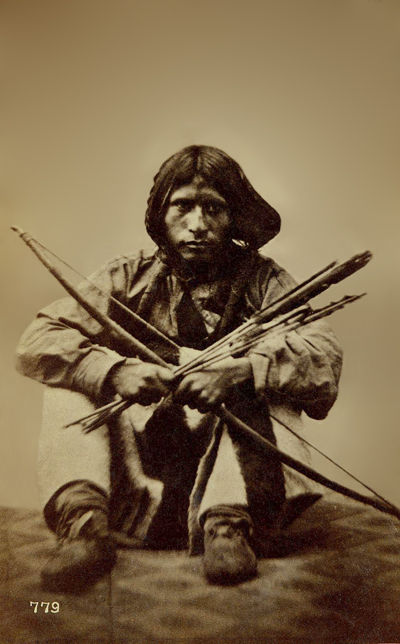 An old photograph of Little Soldier - Shoshone pre-1869.