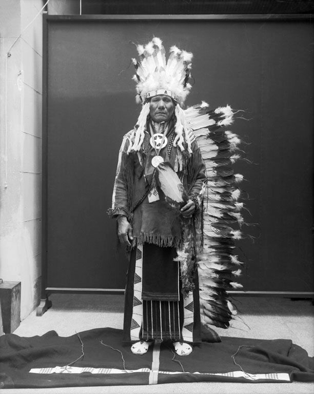 An old photograph of Little Soldier aka Wa-non'-she-zhin-ga - Ponca 1914.