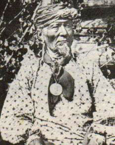 An old photograph of Lone Chief aka Antoine Primeaux - Ponca/French-Canadian [A].