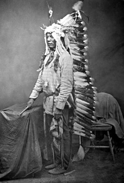 An old photograph of Louie, Sitting Bull's Son - Sioux.