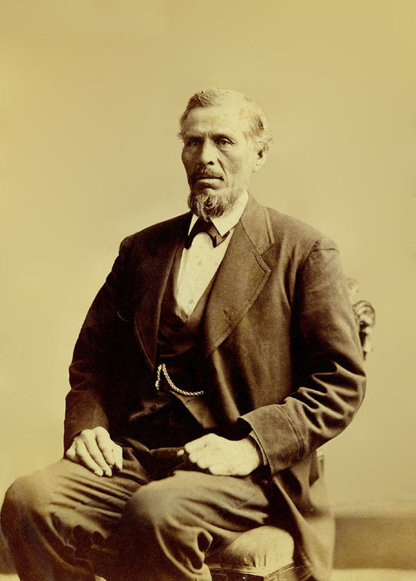 An old photograph of Lyman P Fowler, A Member of The Brotherton Branch of The Pequod Nation.
