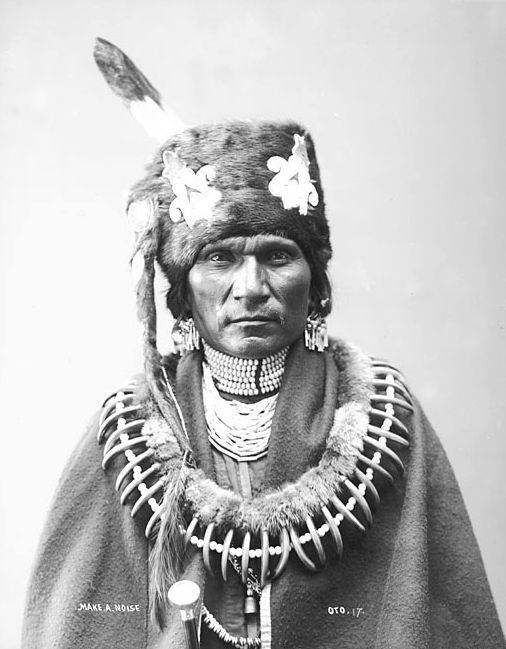 An old photograph of Makes A Noise - Otoe 1884.