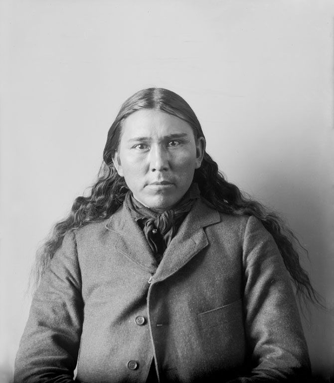 An old photograph of Male Rabbit aka Frank White Eagle - Ponca 1899.
