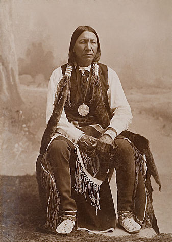 An old photograph of Man On A Cloud aka Cloud Chief - Cheyenne.