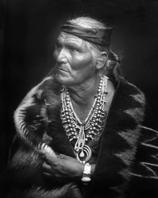 An old photograph of Many Whiskers - Shiprock Tribal Councilman.