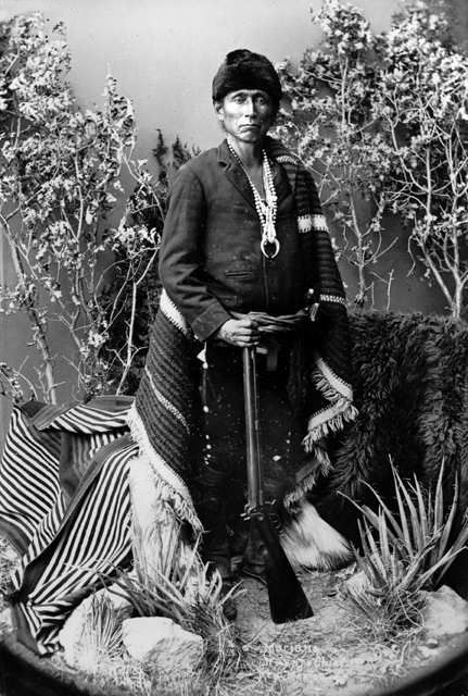 An old photograph of Mariano - Navajo Chief.