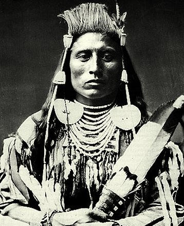 An old photograph of Medicine Crow - Crow.