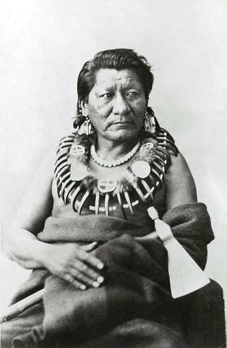 An old photograph of Medicine Horse - Otoe 1869.