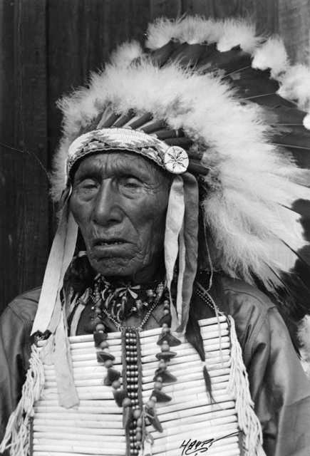An old photograph of Nicholas Black Elk - Oglala c1940.
