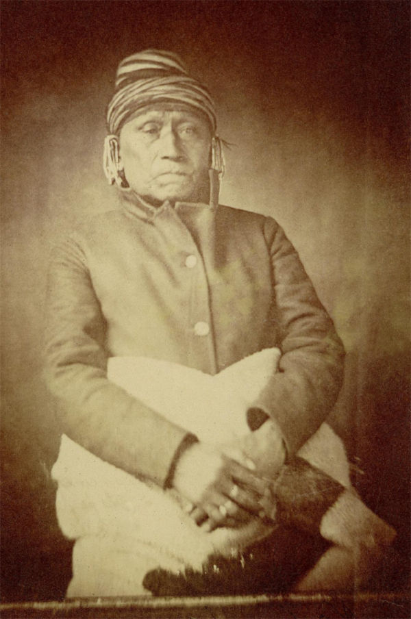 An old photograph of No Heart aka No-he-inga or No-chee-ning-a - Iowa 1869 [B].