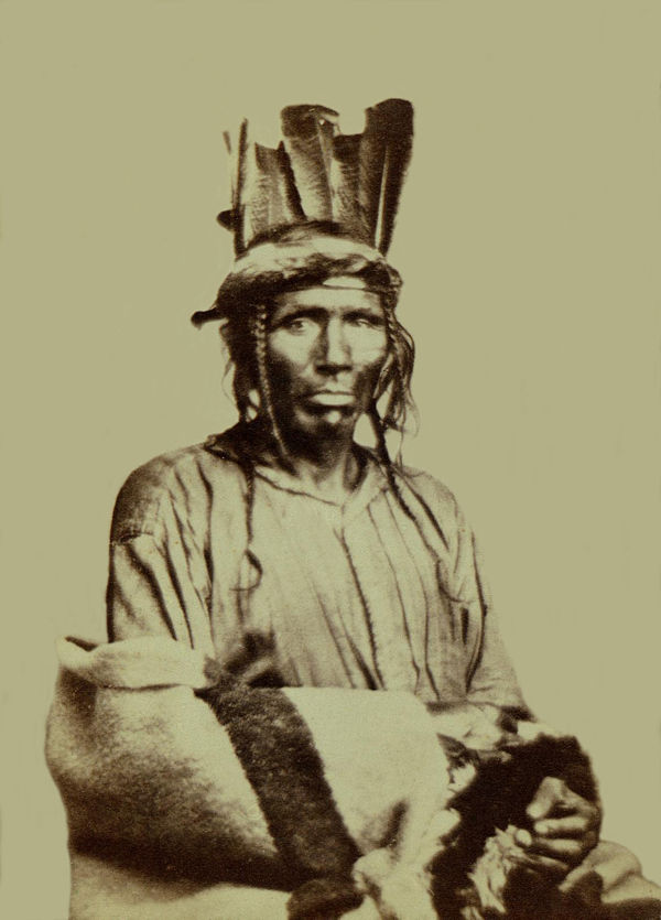 An old photograph of Noon Day aka Now-we-ge-shick - Chippewa.
