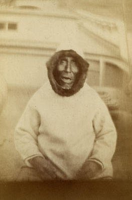 An old photograph of an Old Man at Labrador 1875.
