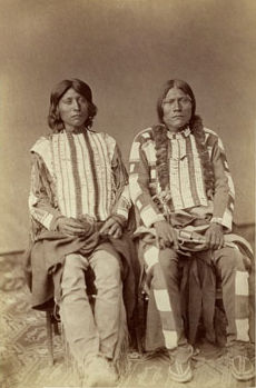 An old photograph of Oragis (left) and Powatch - Two Ute Braves 1875.
