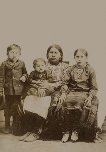 An old photograph of Osage Indians [C].