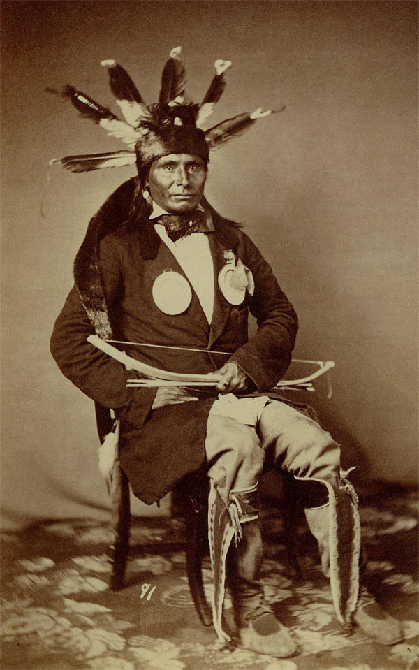 An old photograph of Other Day aka Au-Pe'-To-Ke-Cha - Wahpeton 1858.