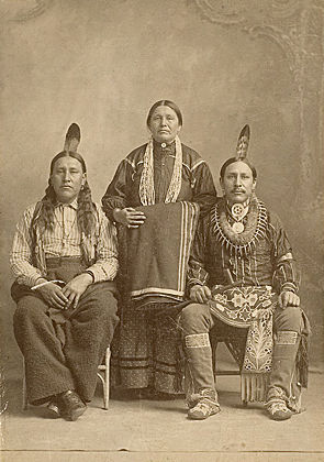 An old photograph of Oto Indians.