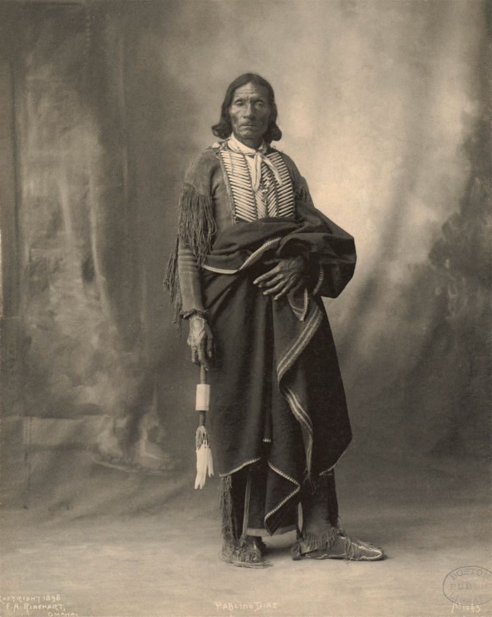 An old photograph of Pablino Diaz - Kiowa 1898.