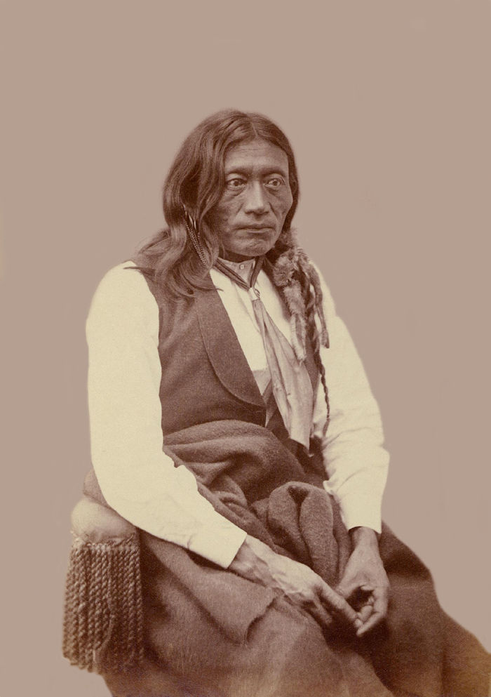 An old photograph of Pacer aka Peso, Essa Queta - Kiowa Apache Oct 1872.