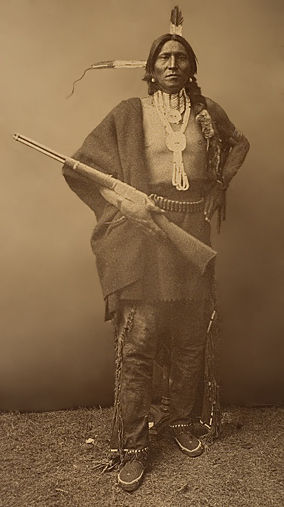 An old photograph of Pack aka Waqin - Yankton Sioux.