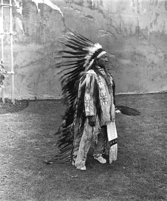 An old photograph of Painted Horse - Oglala 1909.