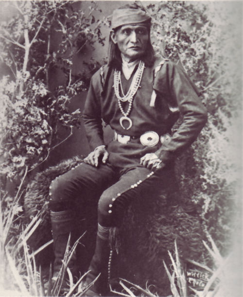 An old photograph of Paliwahtiwa - Zuni Governor.