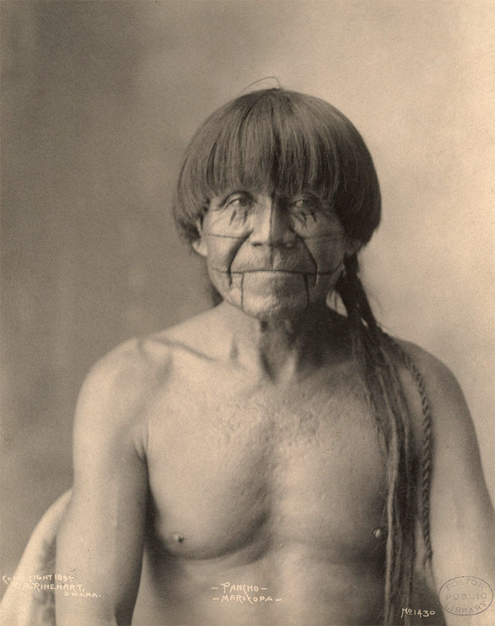 An old photograph of Pancho - Maricopa 1899.