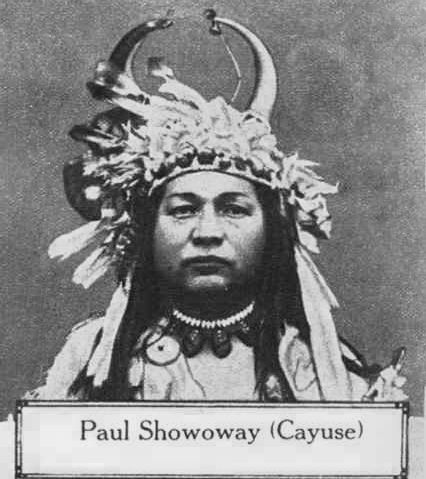 An old photograph of Paul Showoway - Cayuse.