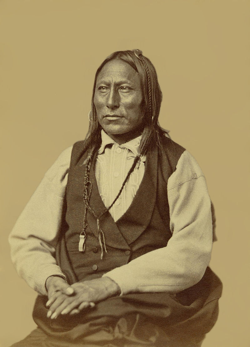 An old photograph of Pawnee - Cheyenne.