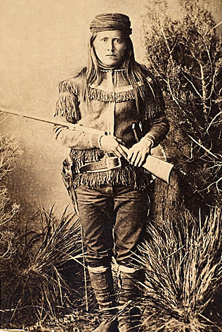 An old photograph of Peaches aka Tzoch (General Crook's Scout) c1885.