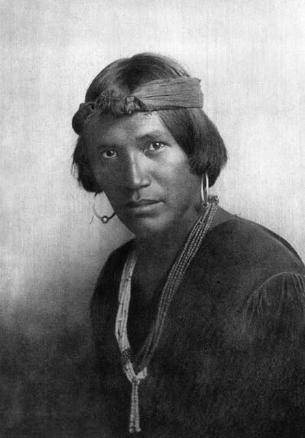 An old photograph of Pedrite, A Navajo Youth.