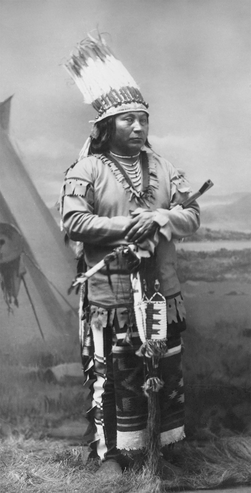 An old photograph of Peo Chief - Umatilla.