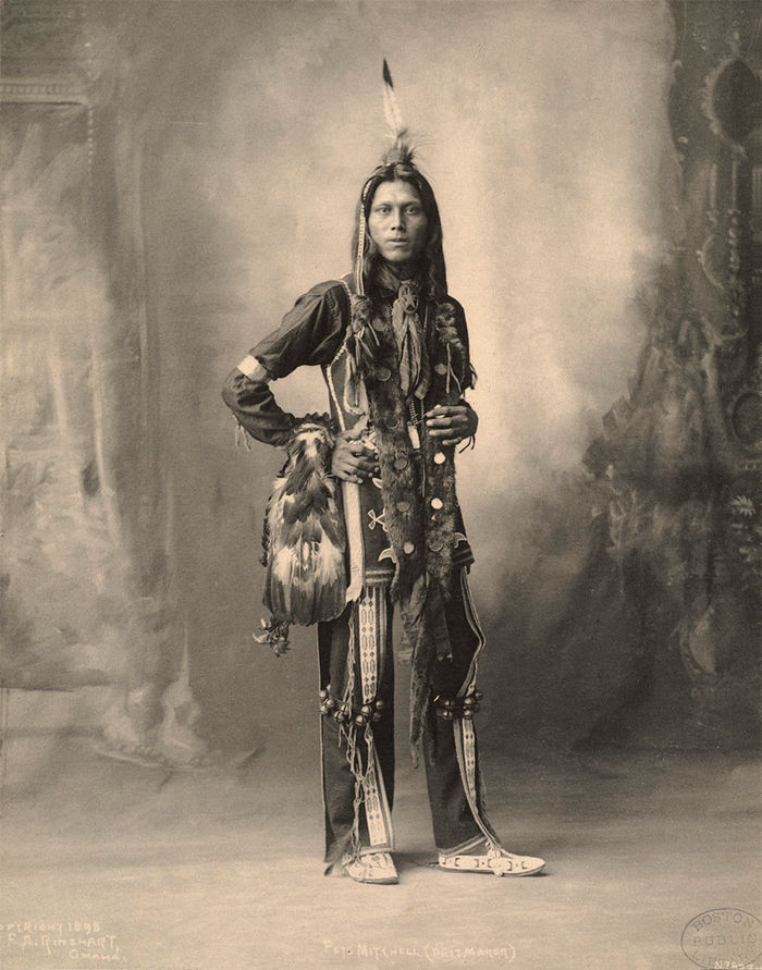 An old photograph of Pete Mitchell aka Dust Maker - Ponca 1898.