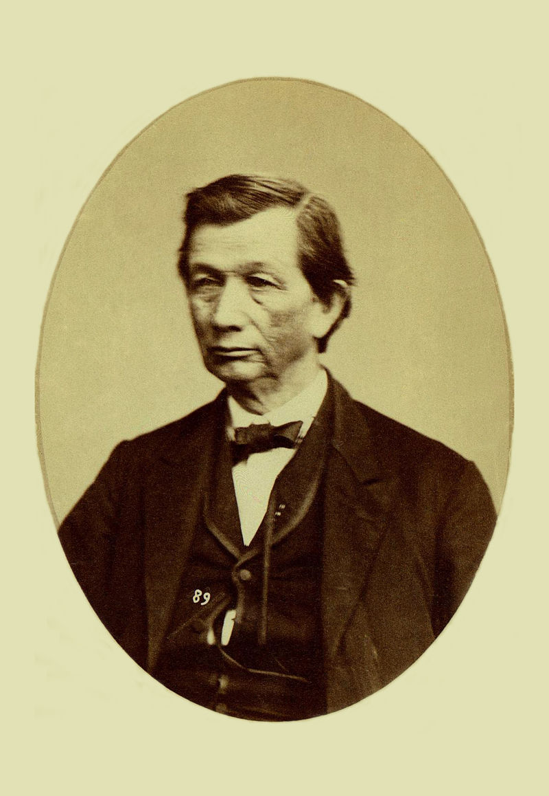 An old photograph of Peter Folsom - Mixed-Blood Choctaw 1857-8.
