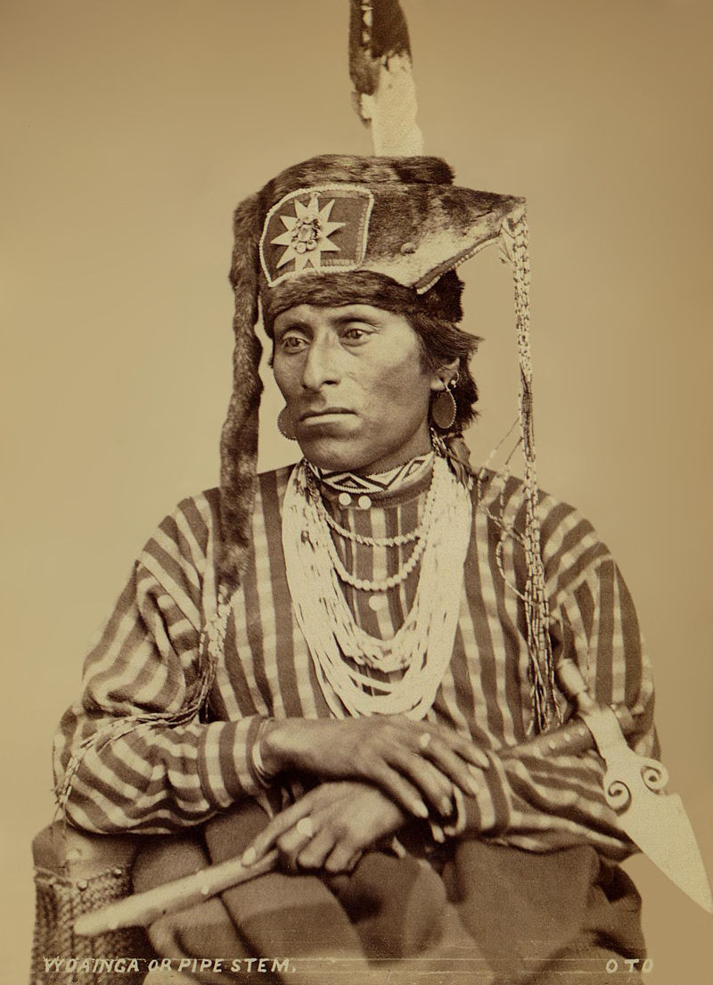 An old photograph of Pipe Stem aka Woainga - Otoe 1869.