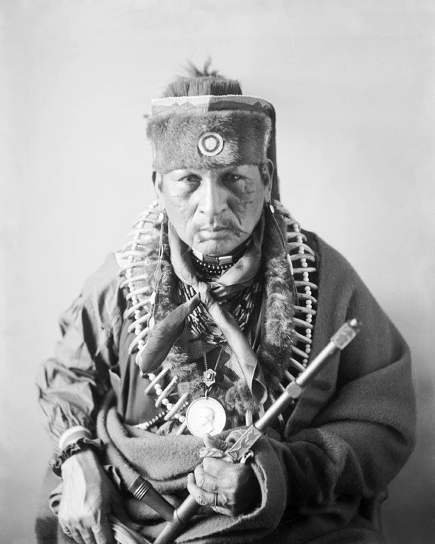 An old photograph of Po-Ga-Ha-Ma-We - Sauk and Fox 1896 [A].