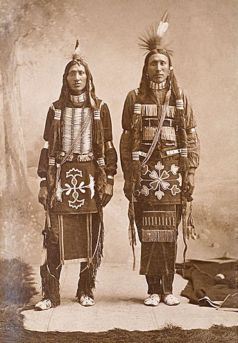 An old photograph of a Ponca Men.