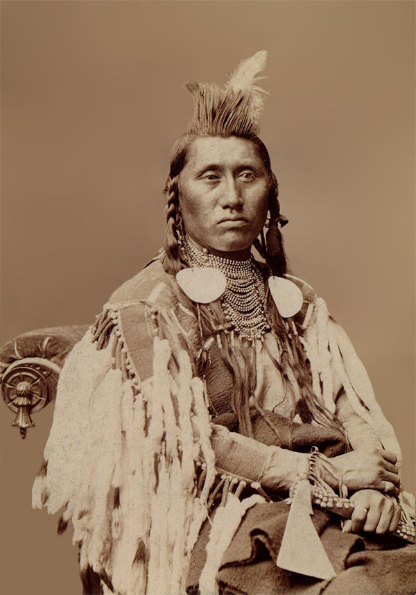 An old photograph of Pretty Eagle aka Dee-kit-shis - Crow Nation 1880.