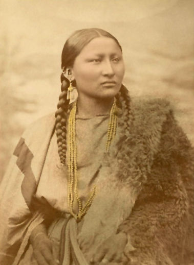 An old photograph of Pretty Nose - Northern Cheyenne 1880.