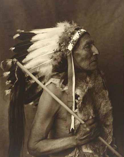 An old photograph of Pretty Voice Eagle - Yankton c1908.
