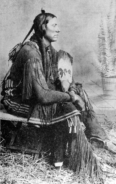 An old photograph of Quanah Parker - Comanche 1880.