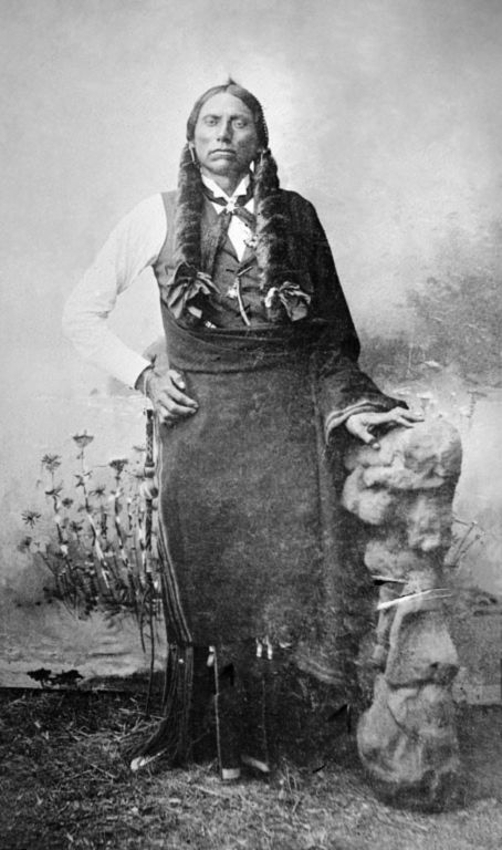 An old photograph of Quanah Parker - Comanche 1890.