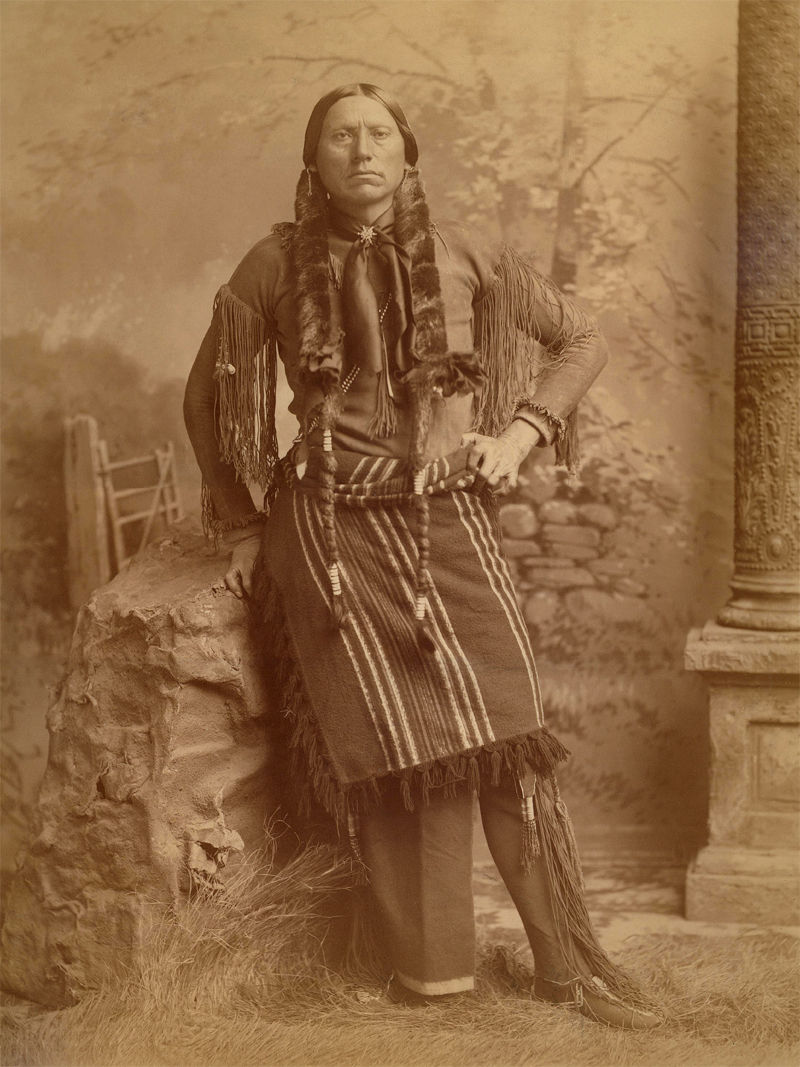 An old photograph of Quanah Parker - Comanche c1890.