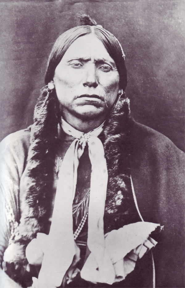 An old photograph of Quanah Parker - Comanche [A].
