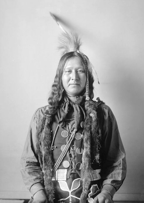 An old photograph of Raises The Dust aka Philip - Ponca 1898.