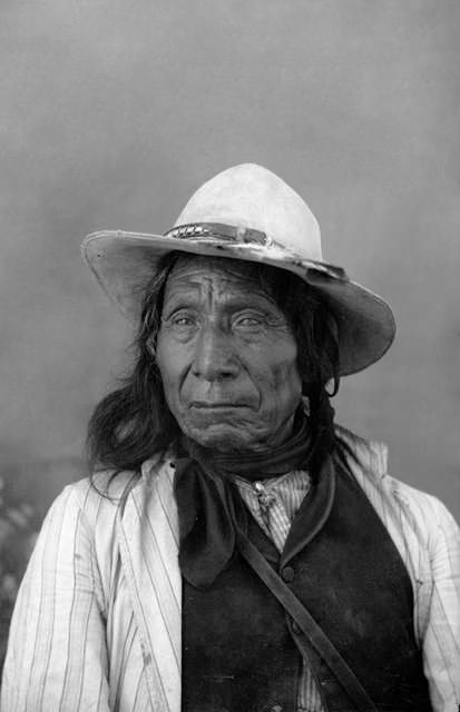 An old photograph of Red Cloud - Oglala Chief 1891.