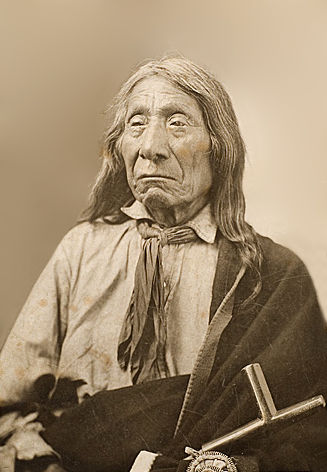 An old photograph of Red Cloud - Oglala Chief [C].