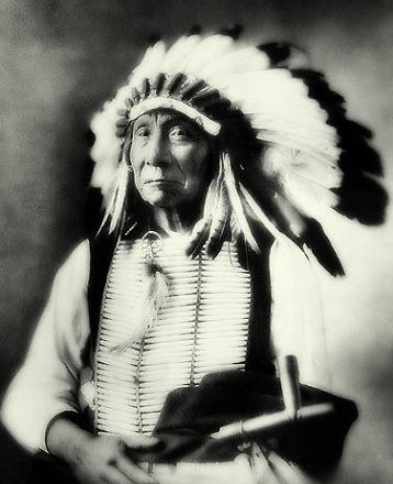 An old photograph of Red Cloud - Oglala Chief [D].