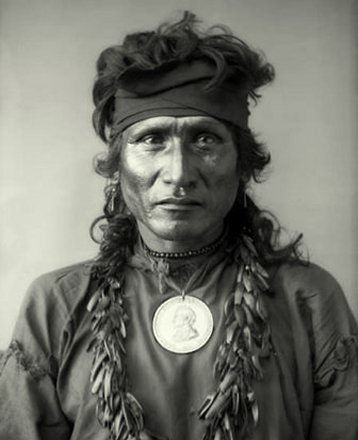 An old photograph of Red Fish - Dakota Sioux.